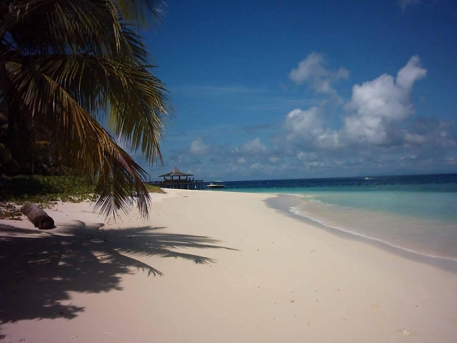 Split-View of Sipadan Island, Borneo бесплатно