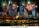 stock-photo-fireworks-and-night-illumination-in-center-of-melbourne-city-43856203