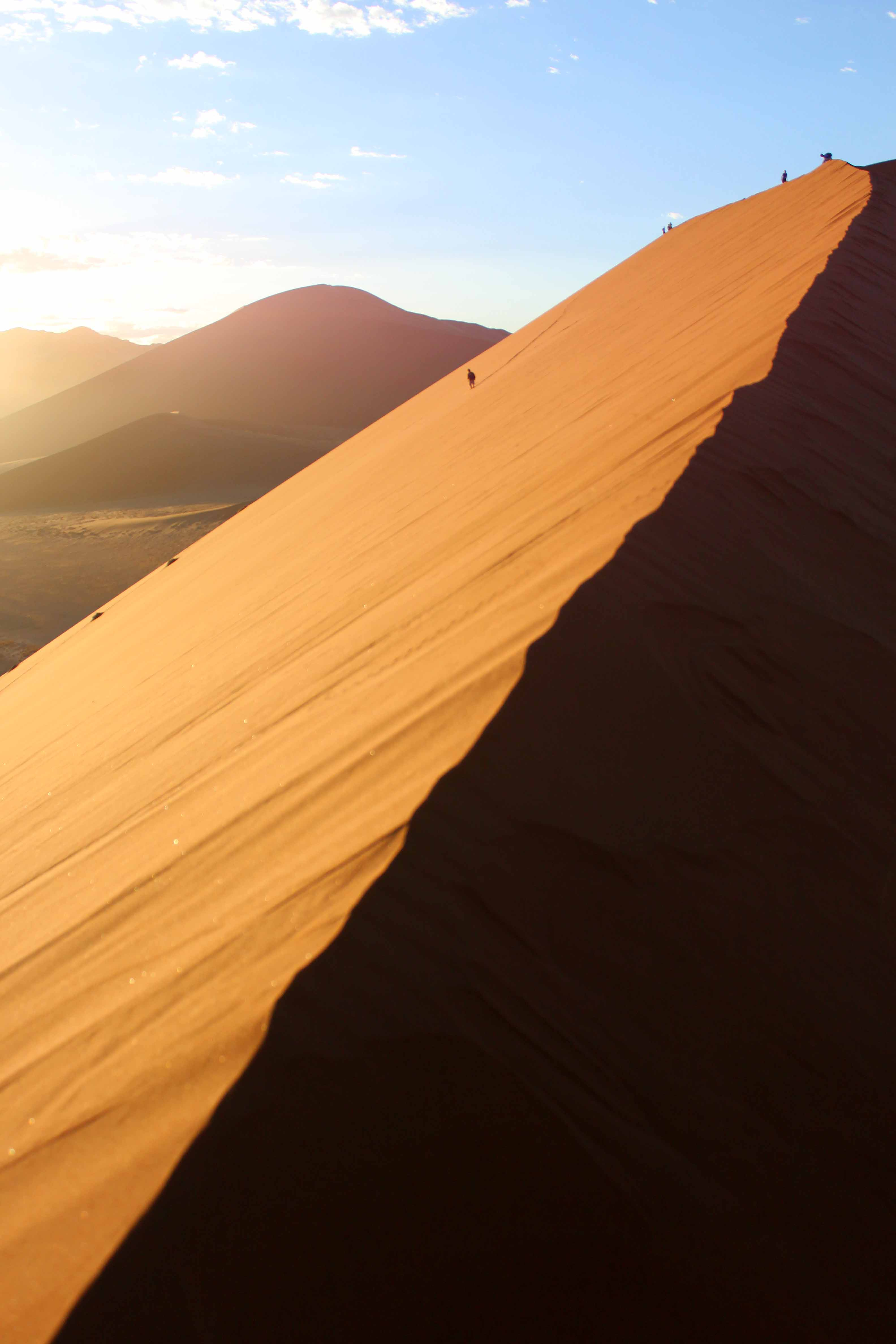 The Star Dunes of the Sossusveli. The Namib Sea Desert ...